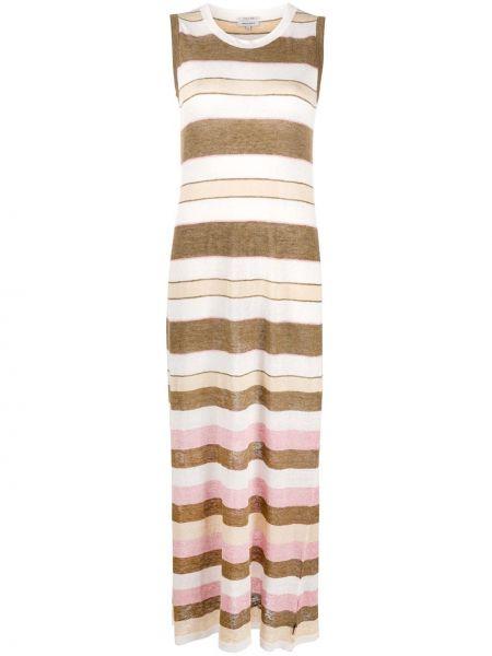 Вязаное платье макси в рубчик без рукавов с вырезом Woolrich