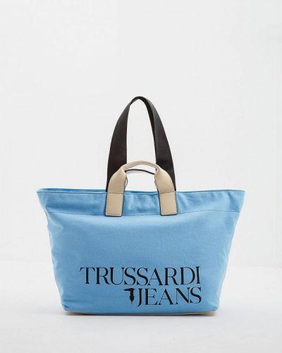Голубые джинсы Trussardi Jeans