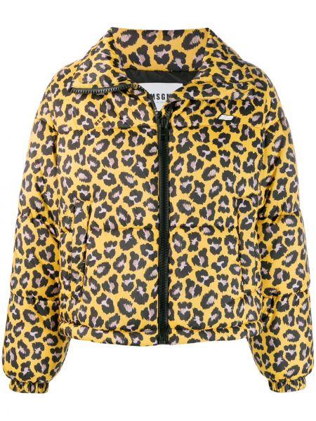 Желтый длинное пальто Msgm
