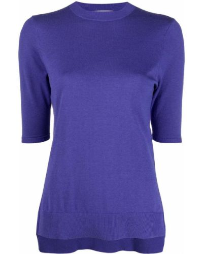 Хлопковый фиолетовый джемпер с короткими рукавами Enföld