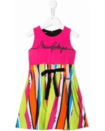 Розовое платье с рукавами Marco Bologna Kids