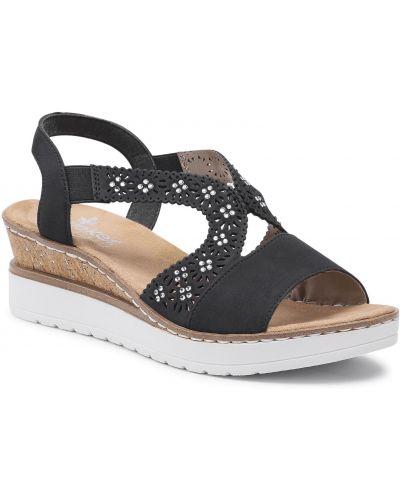 Sandały casual - niebieskie Rieker