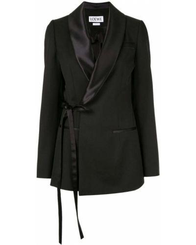 Черный удлиненный пиджак Loewe