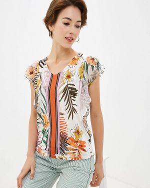 Блузка с коротким рукавом белая весенний Gerry Weber