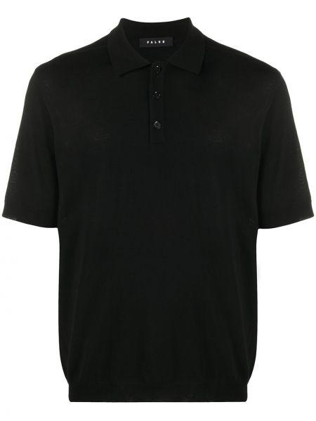 Klasyczna czarna klasyczna koszula krótki rękaw Falke