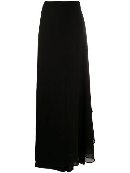 Черные свободные брюки свободного кроя с высокой посадкой с драпировкой Talbot Runhof