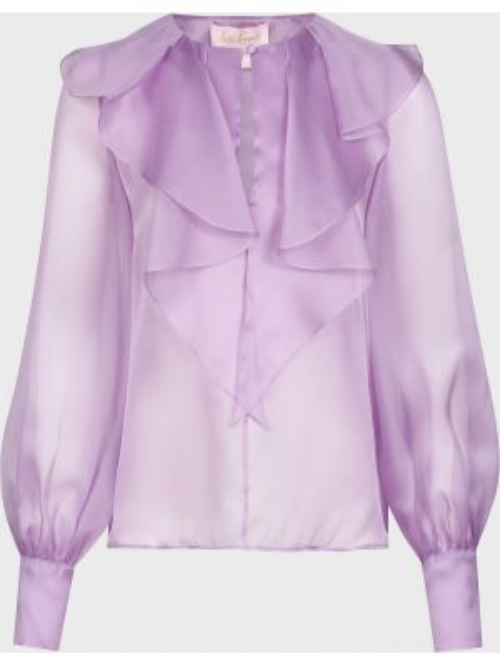 Фиолетовая шелковая блузка Luisa Spagnoli