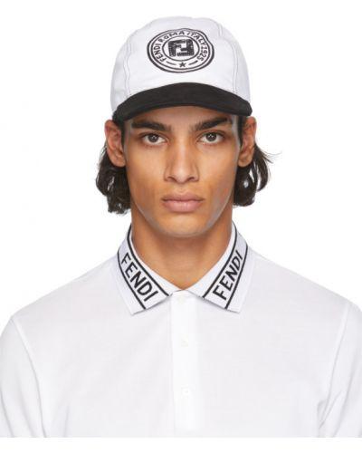 Z paskiem baseball bawełna czarny czapka baseballowa Fendi