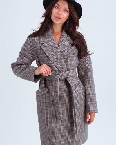Пальто оверсайз - коричневое Emass