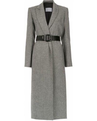 Черное пальто классическое с капюшоном Nk