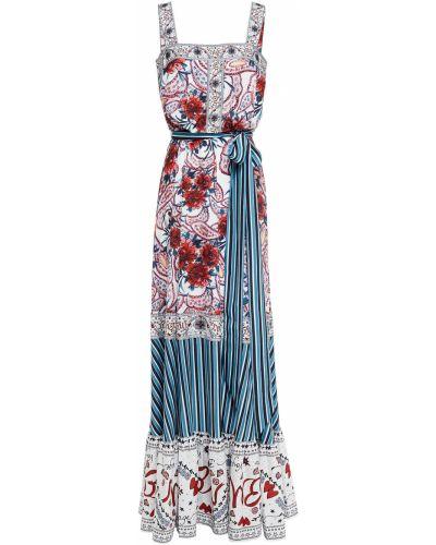 Платье макси - белое Badgley Mischka