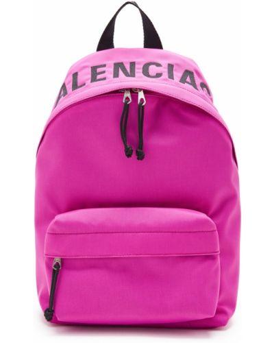 Кожаный рюкзак на молнии нейлоновый Balenciaga