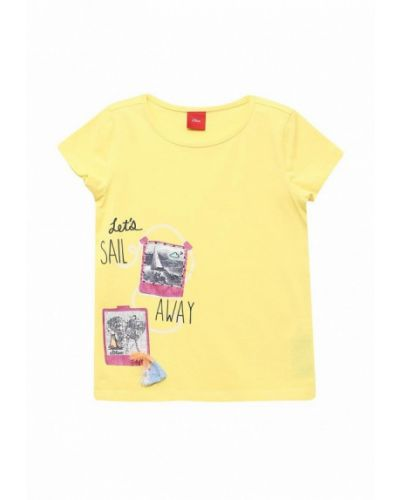 Желтая футболка S.oliver
