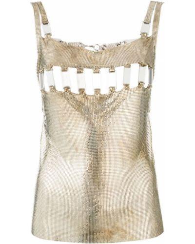 Серебряная блузка винтажная Paco Rabanne Pre-owned