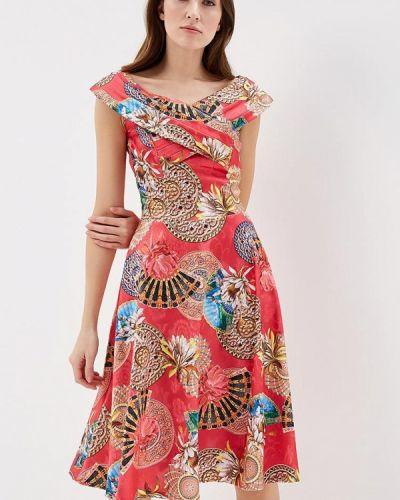 Платье миди красный мадам т