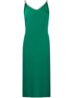 Sukienka rozkloszowana - zielona Christopher Kane