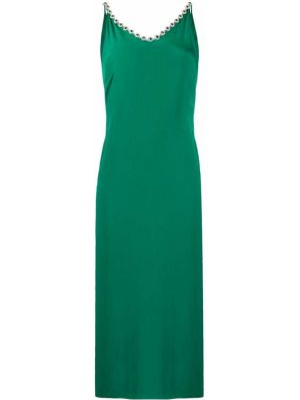 Sukienka zielona z paskiem Christopher Kane