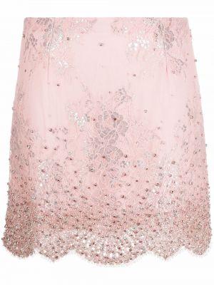 Юбка мини с завышенной талией - розовая Blumarine