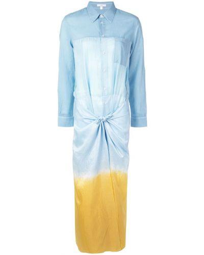 Платье платье-рубашка синее Tome