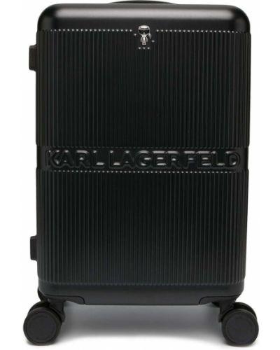 Облегченный черный чемодан на молнии Karl Lagerfeld