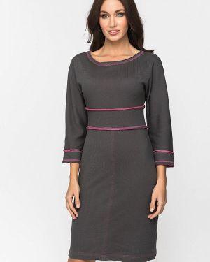 Платье серое прямое Gloss