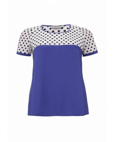 Синяя блузка с коротким рукавом Svesta