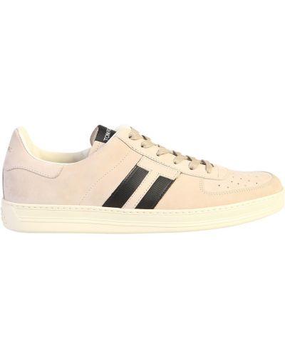 Sneakersy sznurowane koronkowe Tom Ford