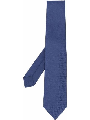 Jedwab niebieski krawat Hermes
