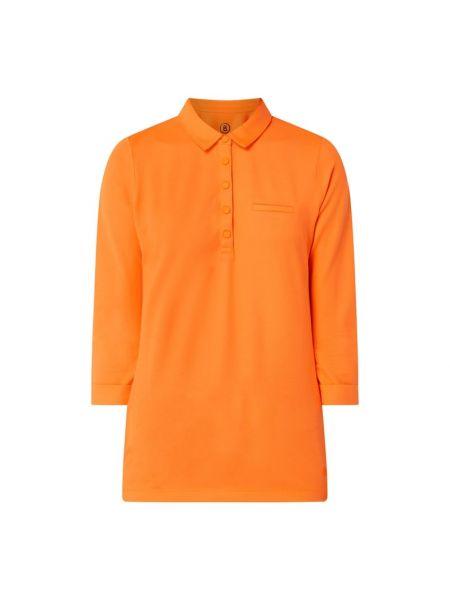 T-shirt bawełniana - pomarańczowa Bogner