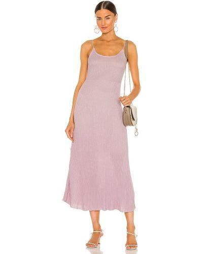 Хлопковое фиолетовое платье макси с подкладкой John & Jenn By Line
