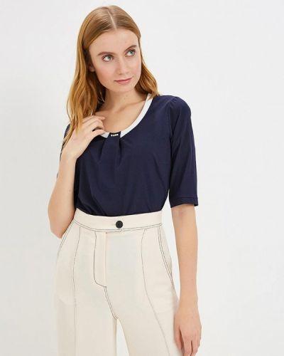 Блузка с коротким рукавом синяя Grafinia