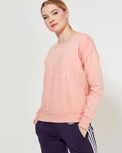 Толстовка розовый Adidas