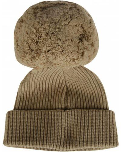 Brązowa czapka beanie Alberta Ferretti