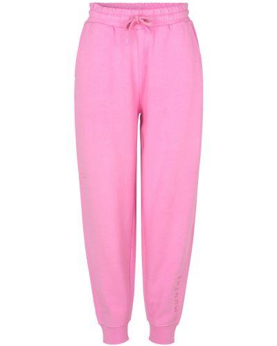 Różowe spodnie oversize Munthe