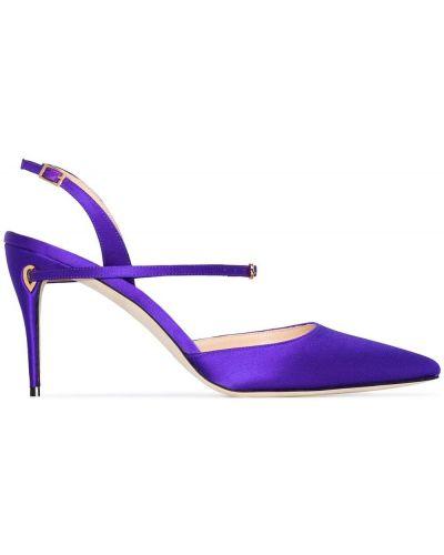 С ремешком фиолетовые туфли на высоком каблуке с пряжкой на каблуке Jennifer Chamandi