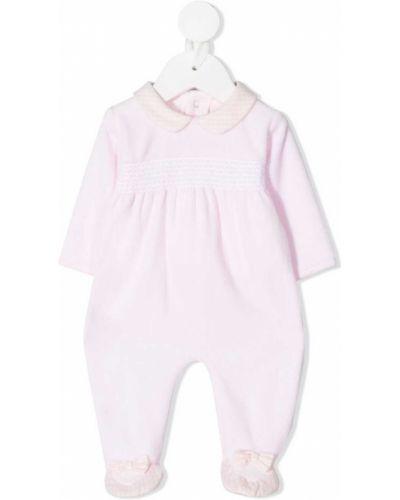 Хлопковая розовая пижама на пуговицах Absorba
