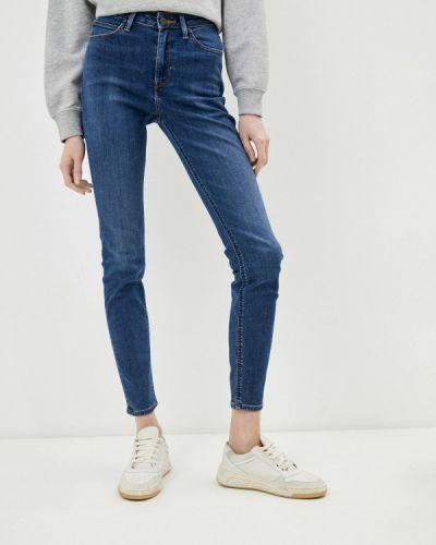 Зауженные джинсы - синие Lee