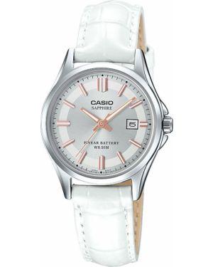 Водонепроницаемые часы на кожаном ремешке с подсветкой Casio
