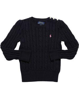 Sweter z haftem na szyi Ralph Lauren