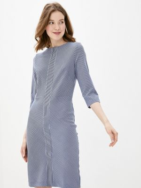 Платье прямое синее Sezoni
