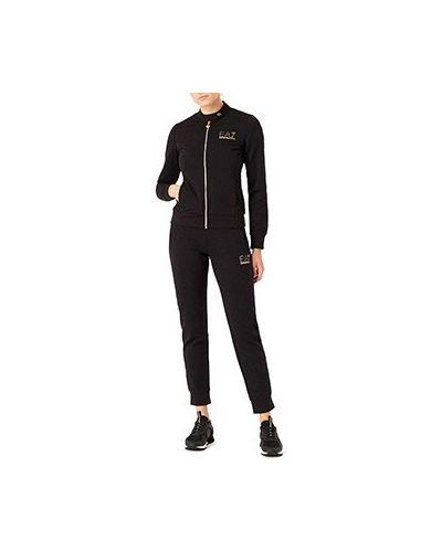 Хлопковый спортивный костюм - черный Ea7