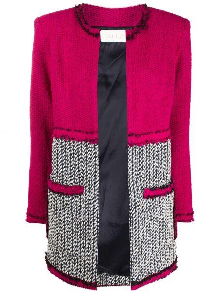 Трикотажный розовый пиджак с подкладкой Loulou