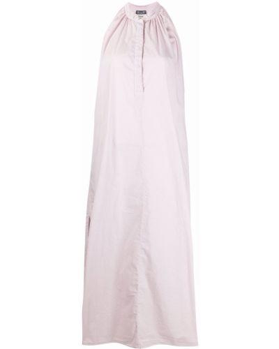 Фиолетовое платье миди без рукавов с воротником Kristensen Du Nord