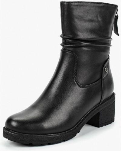 Черные полусапожки на каблуке Berkonty