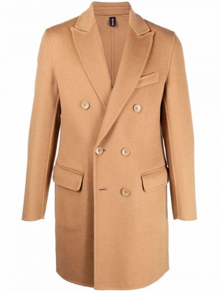 Beżowy długi płaszcz wełniany Palto