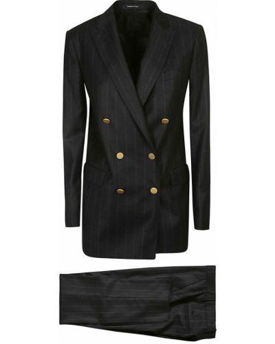 Czarny garnitur Tagliatore