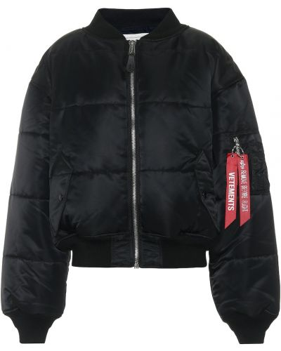 Czarna kurtka z nylonu Vetements