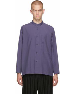 Фиолетовая рубашка с воротником с манжетами на пуговицах 132 5. Issey Miyake