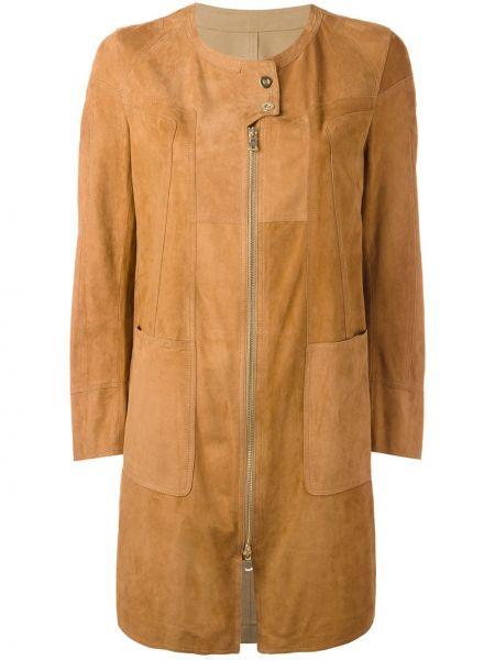 Замшевое пальто - коричневое Sylvie Schimmel