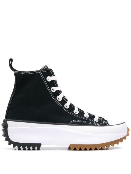 Черные кеды на шнуровке Converse
